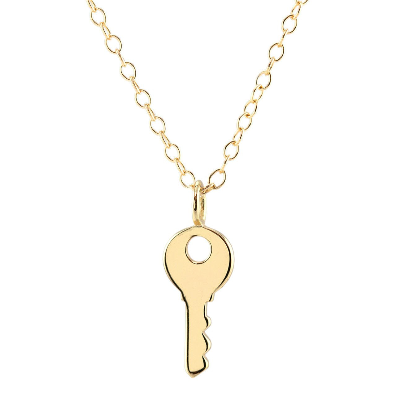 KRIS NATIONS - KEY CHARM NECKLACE IN GOLD