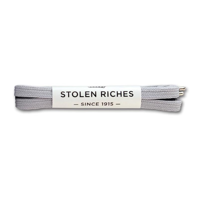 STOLEN RICHES - SNEAKER LACES (6-7 EYELETS) IN ISOLAR SLIVER