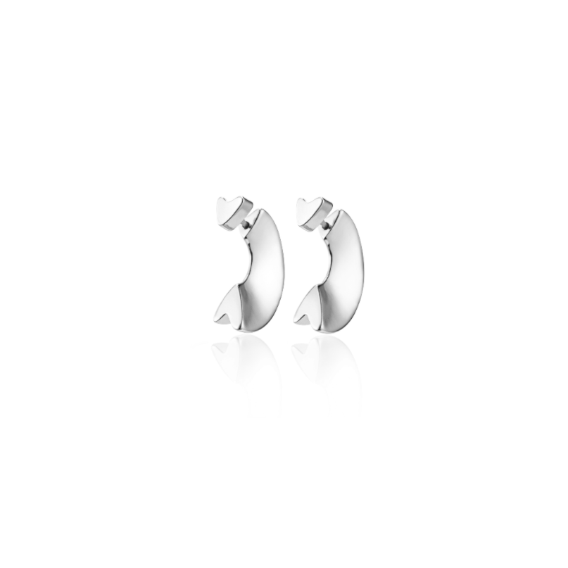JENNY BIRD - HIDDEN HEART EAR JACKETS IN SILVER