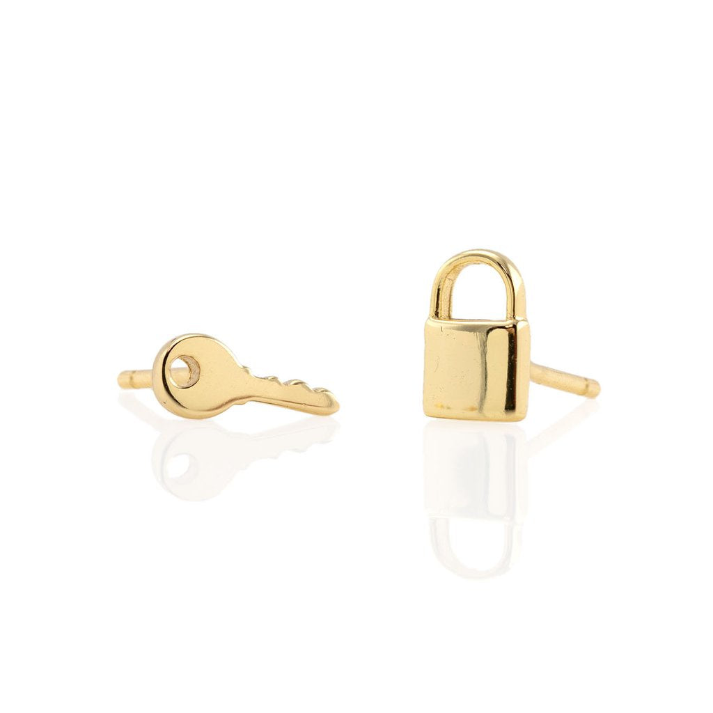 KRIS NATIONS - LOCK & KEY STUDS IN GOLD