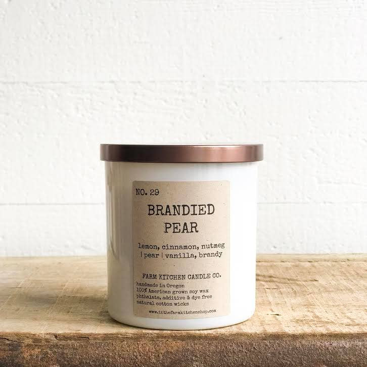 FARM KITCHEN CANDLE CO - BRANDIED PEAR SOY CANDLE 8.5OZ