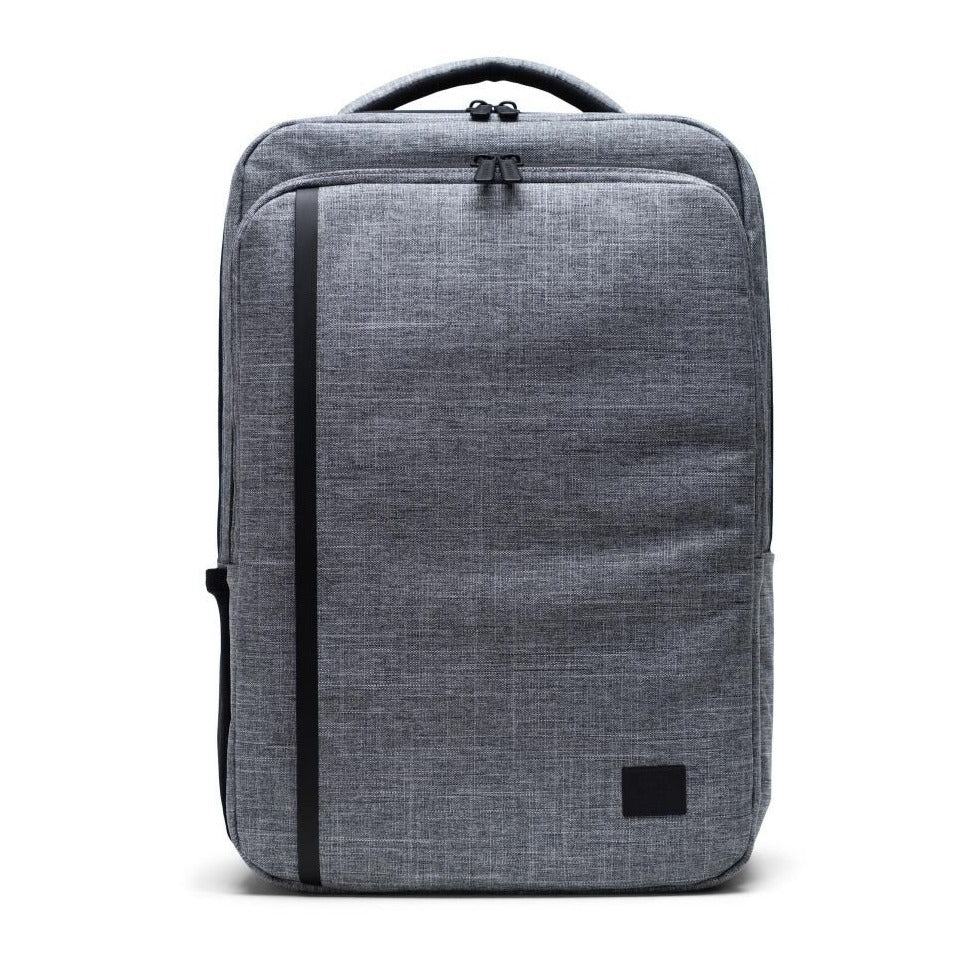 HERSCHEL - TRAVEL BACKPACK IN RAVEN CROSSHATCH