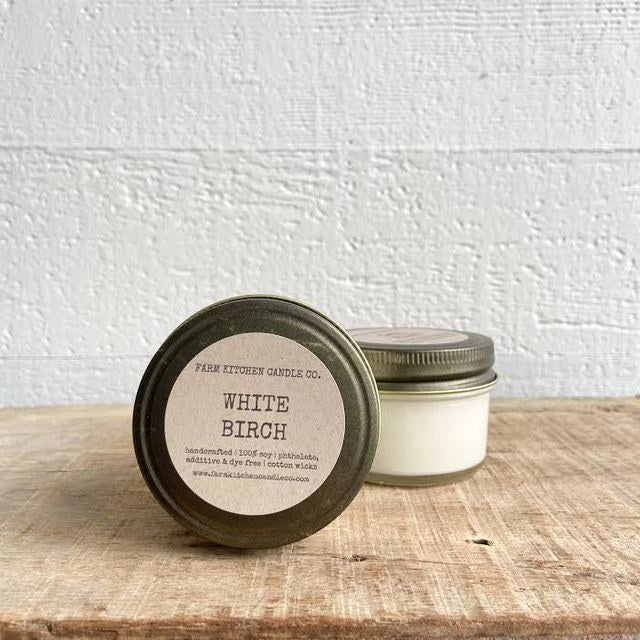 FARM KITCHEN CANDLES - WHITE BIRCH SOY CANDLE - MINI