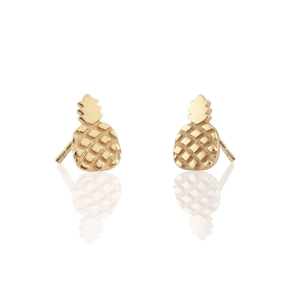 KRIS NATIONS - PINEAPPLE STUDS IN GOLD