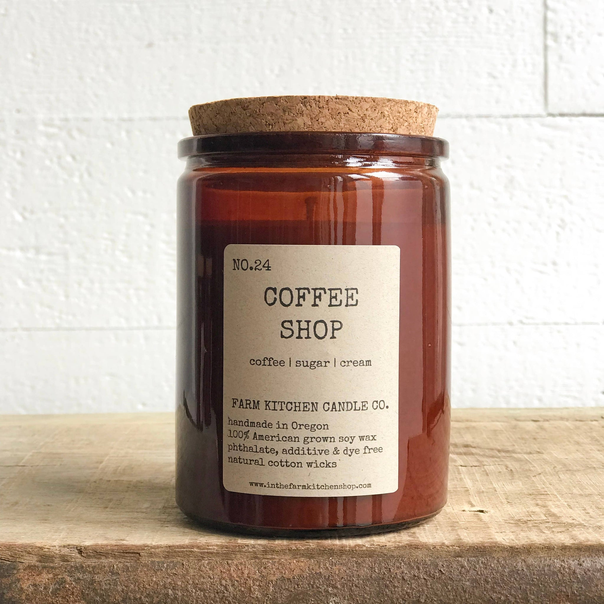 FARM KITCHEN CANDLE CO - COFFEE SHOP SOY CANDLE 10.5OZ