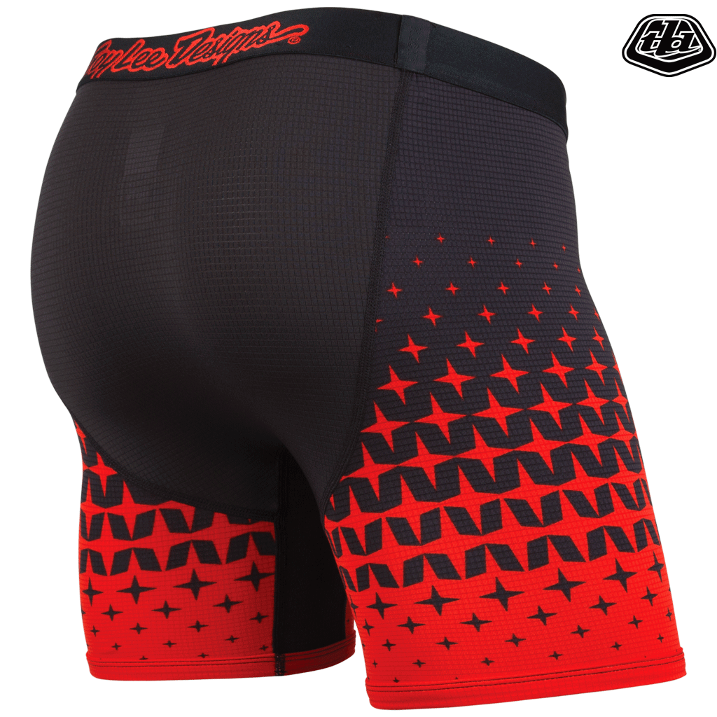BN3TH - TROY LEE BOXER BRIEF IN MEGABURST BLACK/RED