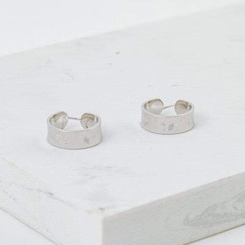 LOVER'S TEMPO - SUNBURST HOOP EARRINGS IN SILVER