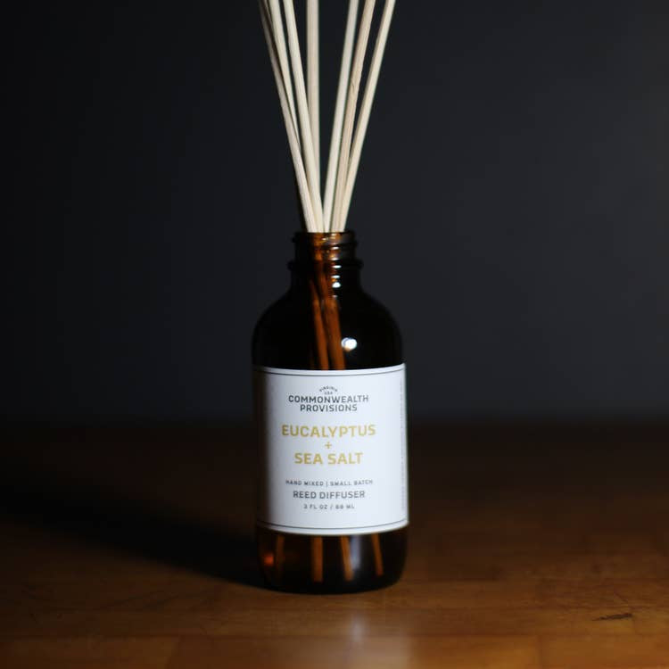 COMMONWEALTH PROVISIONS - REED DIFFUSER IN EUCALYPTUS & SEA SALT