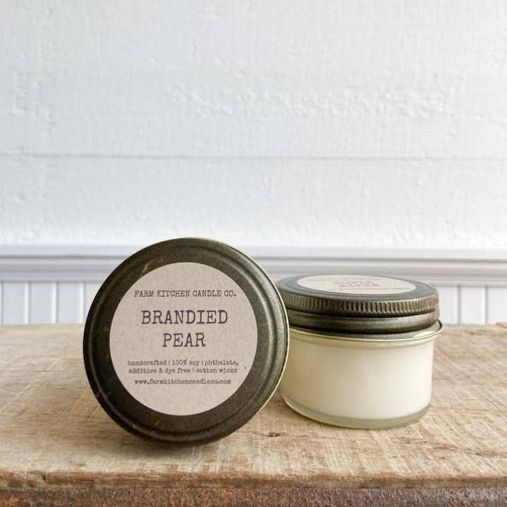 FARM KITCHEN CANDLE CO. - BRANDIED PEAR MINI SOY CANDLE
