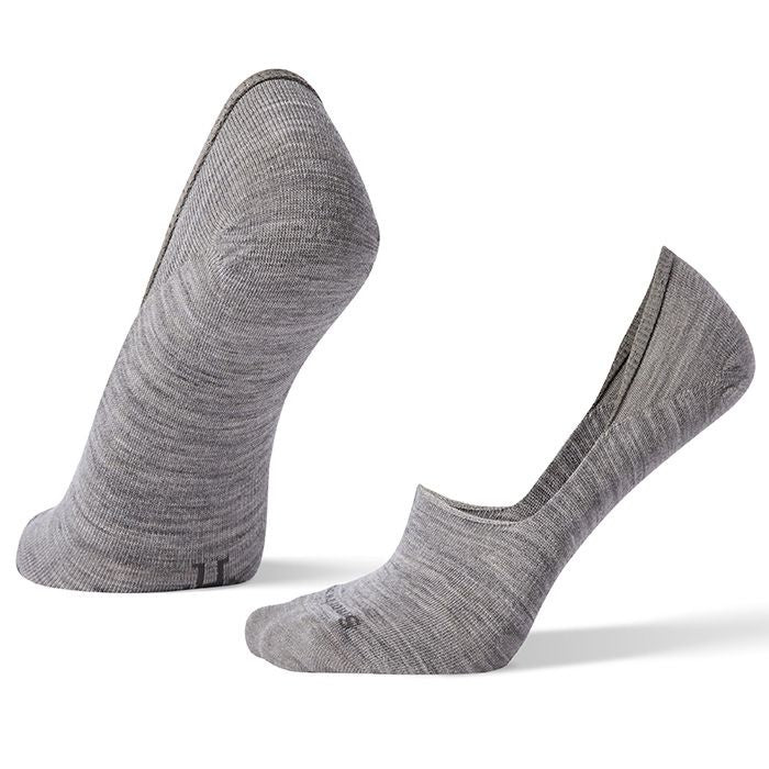 SMARTWOOL - HIDE AND SEEK NO SHOW IN LIGHT GREY