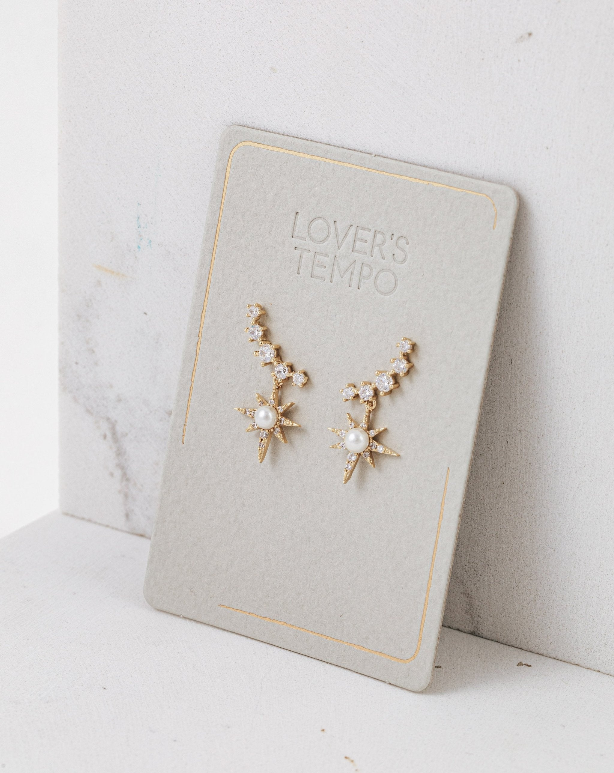 LOVER'S TEMPO - ALAIA CLIMBER EARRINGS IN GOLD