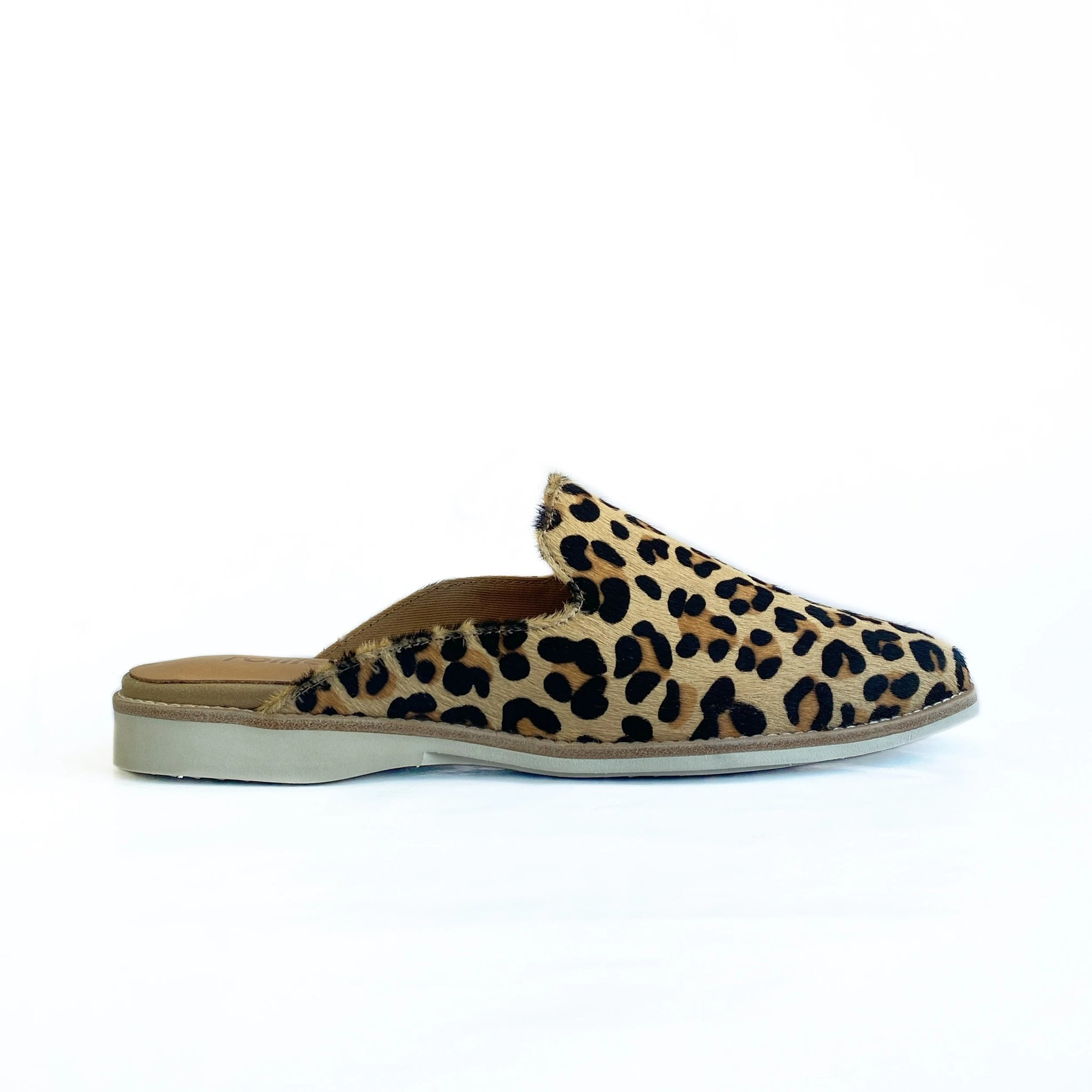 ROLLIE - MADISON MULE IN CAMEL LEOPARD