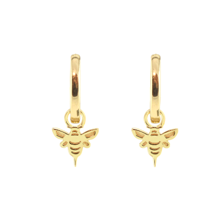 KRIS NATIONS - BEE HUGGIE HOOP EARRINGS IN GOLD