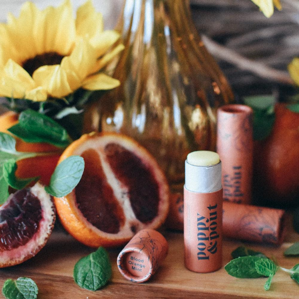 POPPY & POUT - BLOOD ORANGE MINT LIP BALM