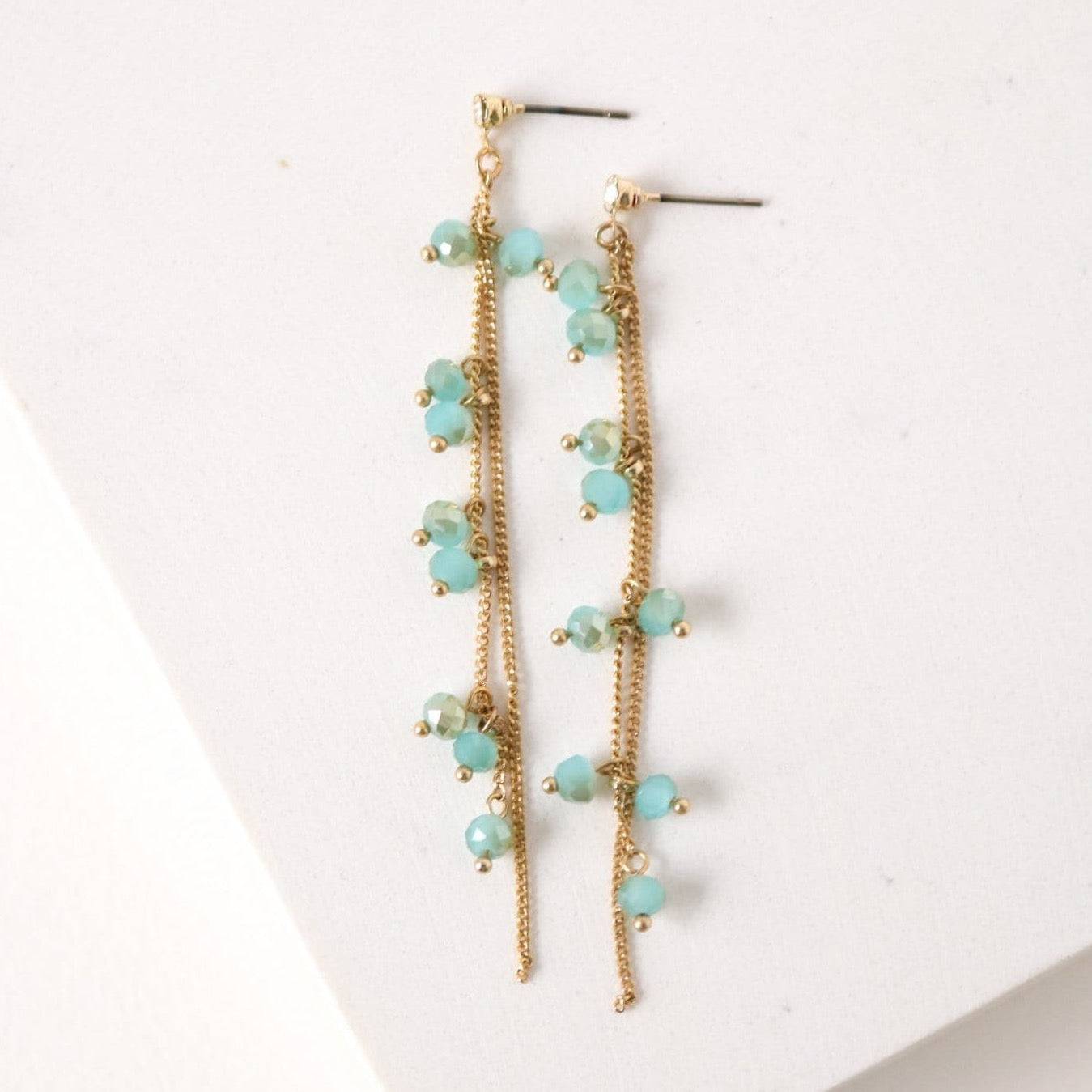 LOVER'S TEMPO - DOT CRYSTAL EARRINGS IN SEA