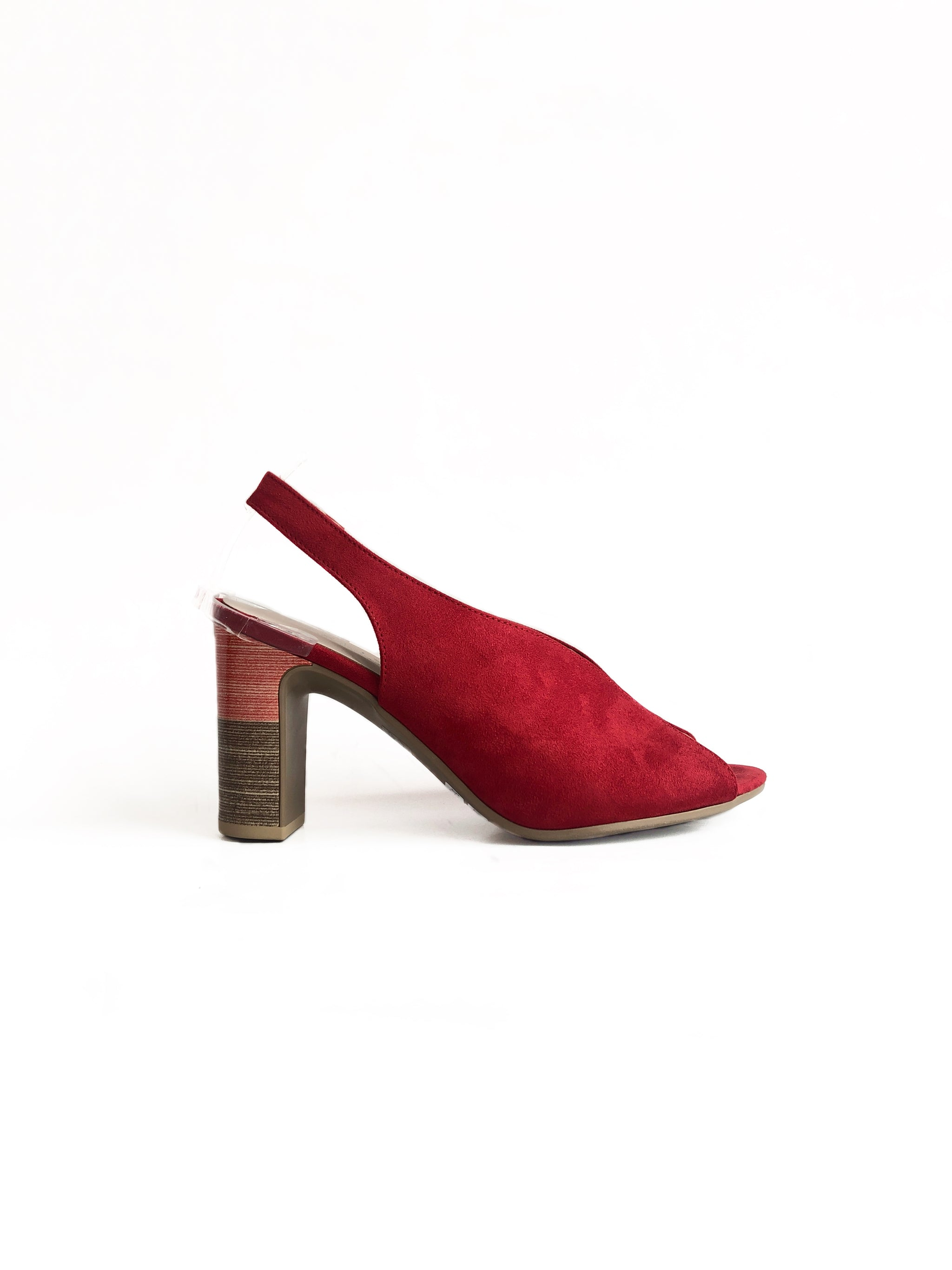 ATELIERS - DUTTON IN RED SUEDE