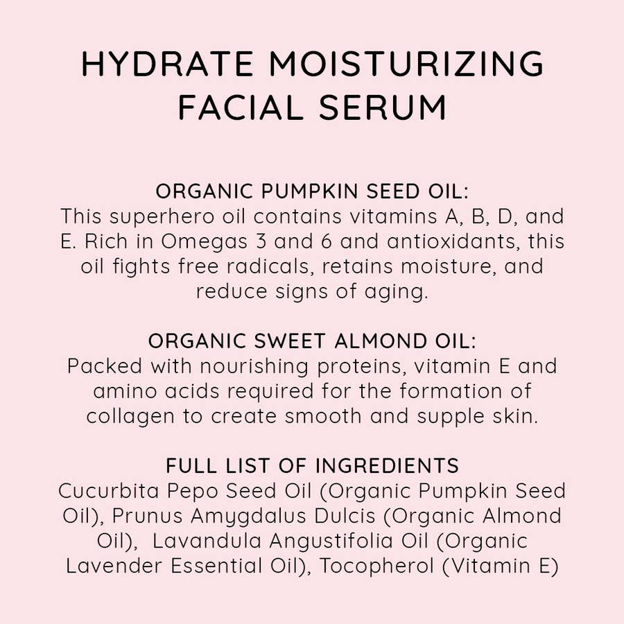 NIU BODY - HYDRATE MOISTURIZING FACIAL SERUM
