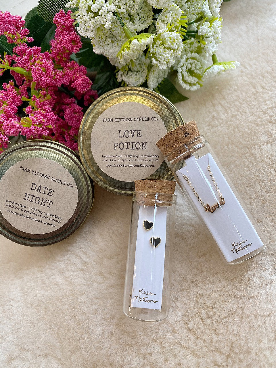 FARM KITCHEN CANDLE CO. - LOVE POTION MINI SOY CANDLE
