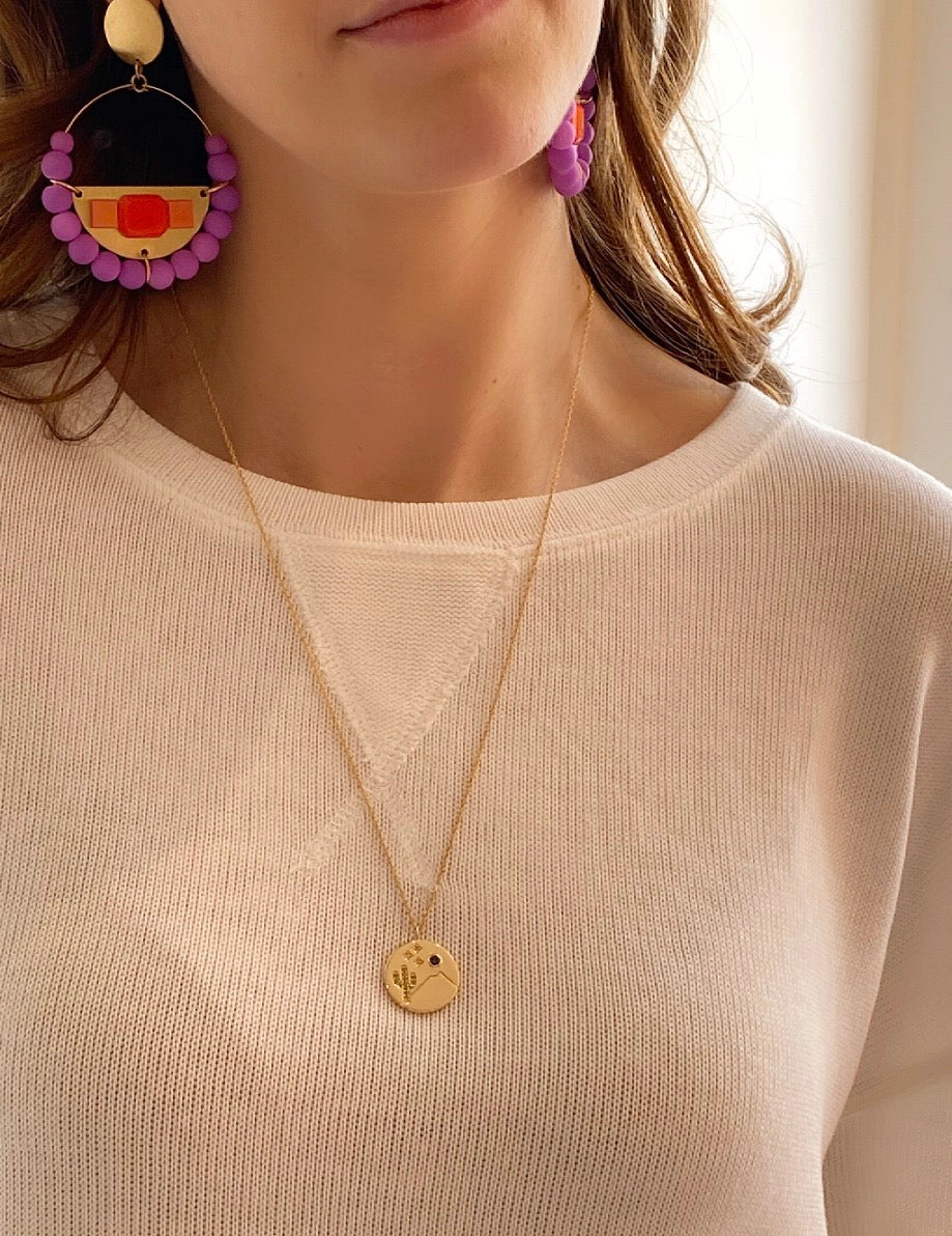 KRIS NATIONS - HAPPY CAMPER NECKLACE IN GOLD