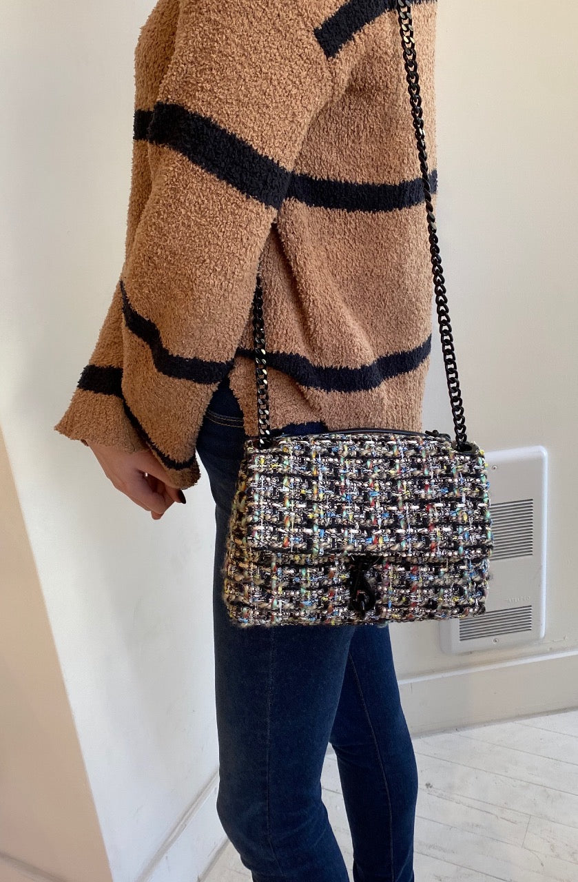 REBECCA MINKOFF - EDIE CROSSBODY TWEED IN MULTI