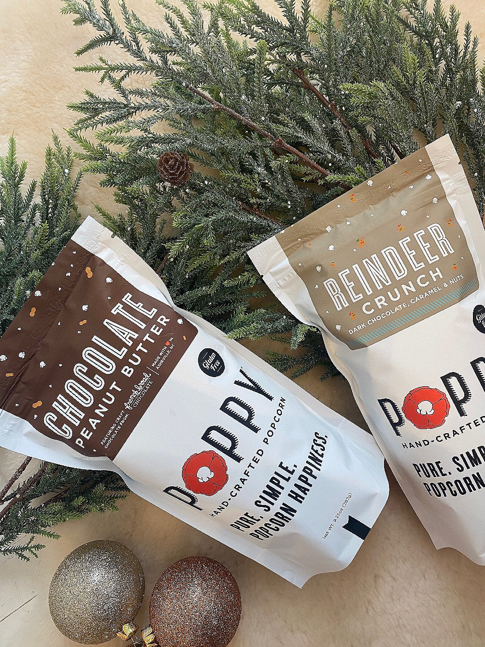 POPPY HAND-CRAFTED POPCORN - CHOCOLATE PEANUT BUTTER MARKET BAG