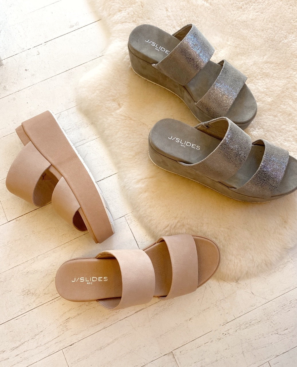 J SLIDES - QUINCY IN PEWTER