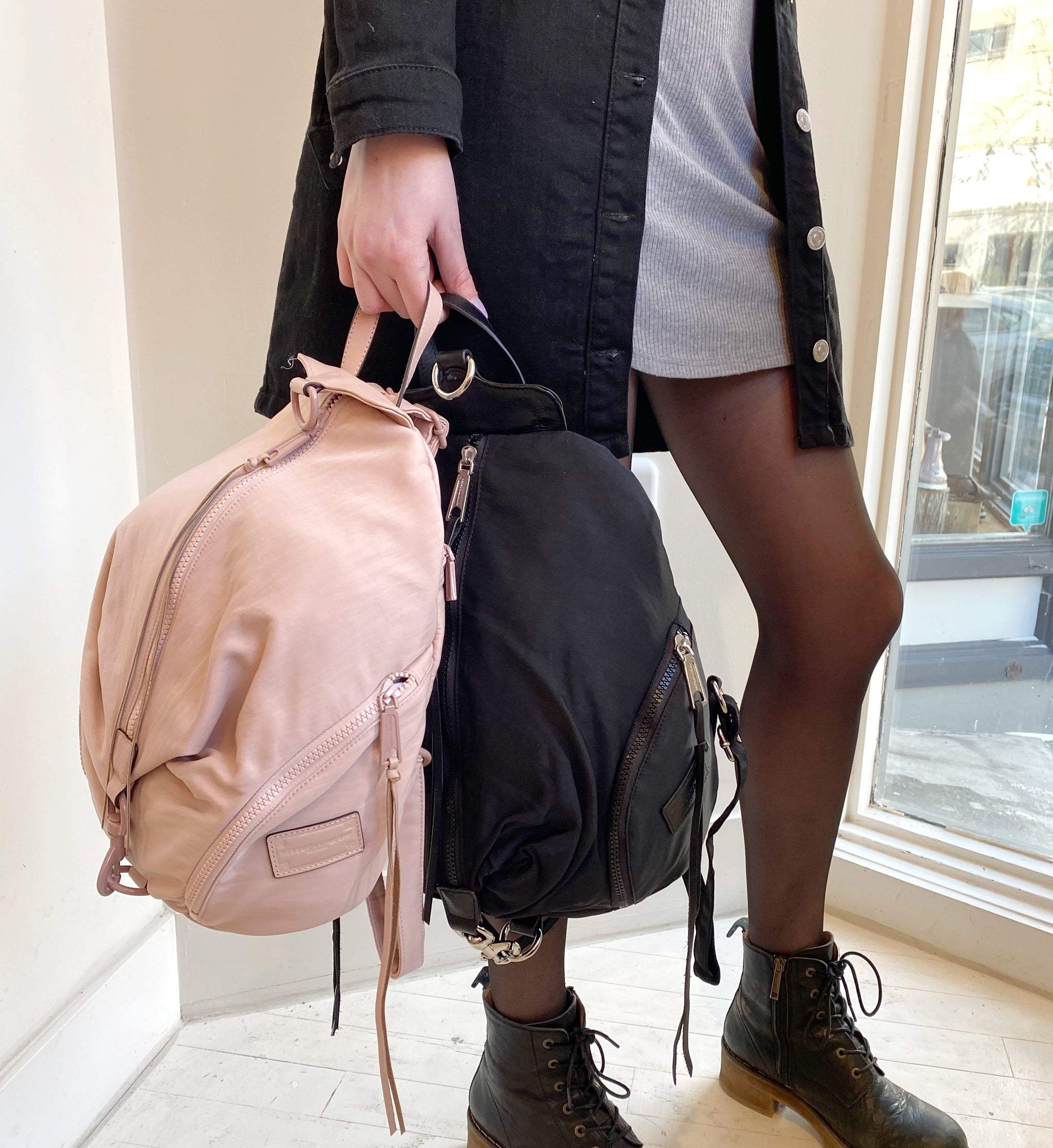 REBECCA MINKOFF - JULIAN NYLON BACKPACK IN PUFF