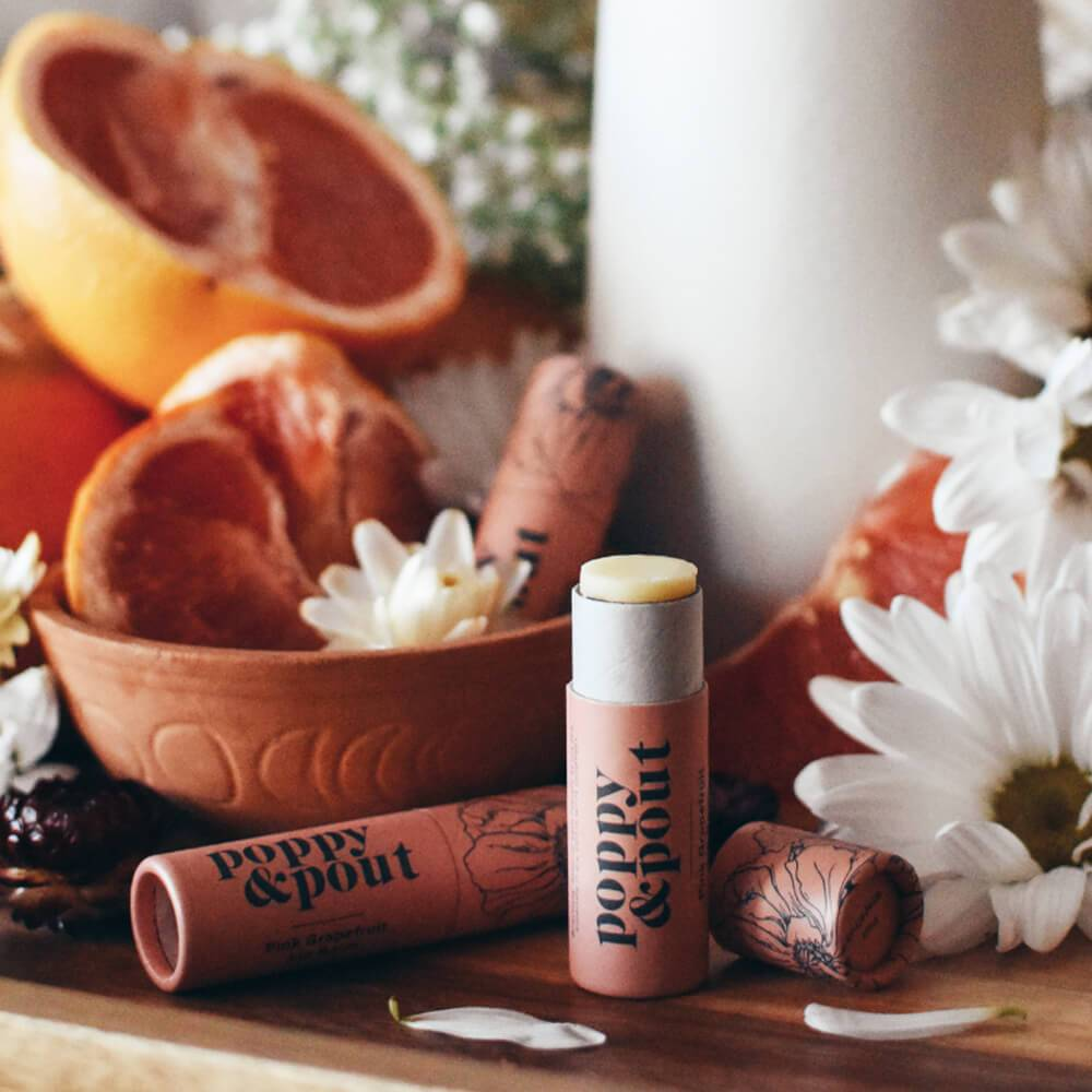 POPPY & POUT - PINK GRAPEFRUIT LIP BALM