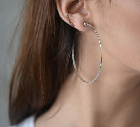 JENNY BIRD - ICON HOOPS M IN RHODIUM/SILVER