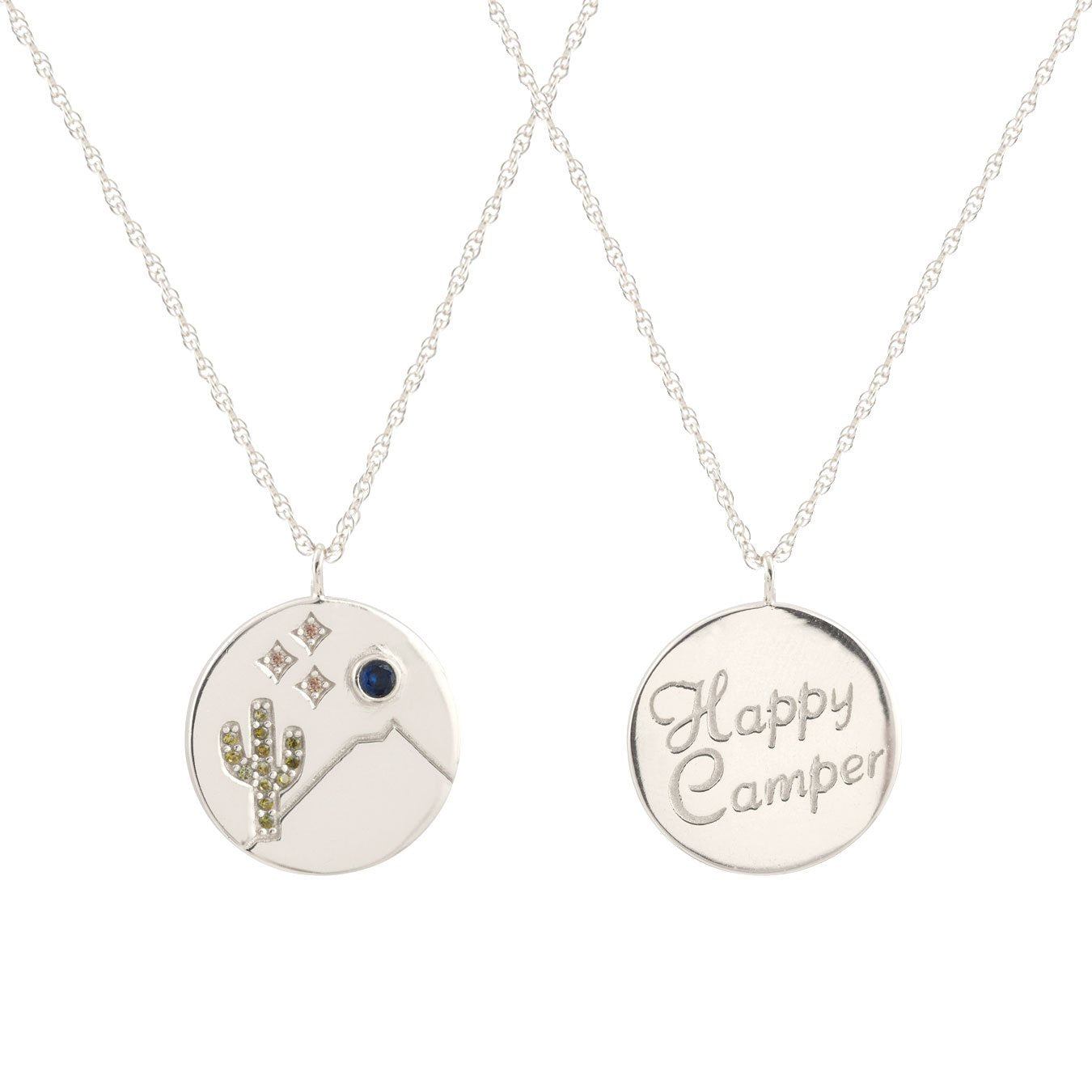 KRIS NATIONS - HAPPY CAMPER NECKLACE IN SILVER