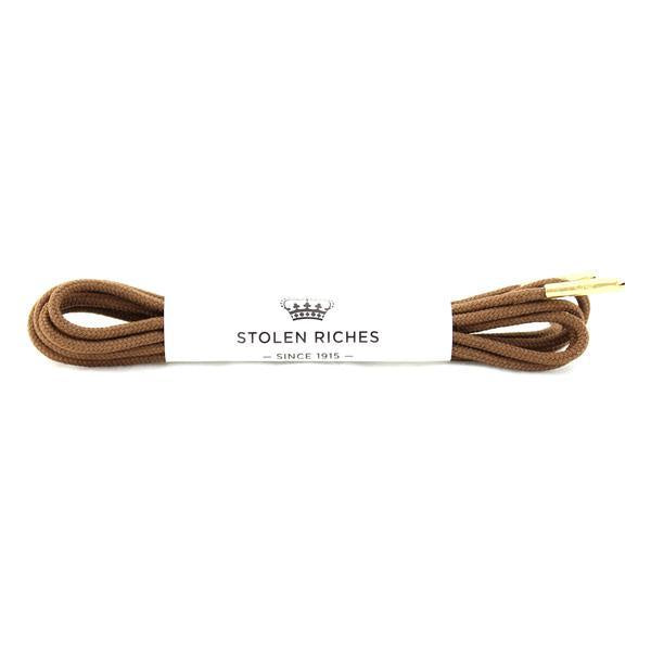 STOLEN RICHES - DRESS LACES (5-6 EYELETS) IN GIPPER BROWN