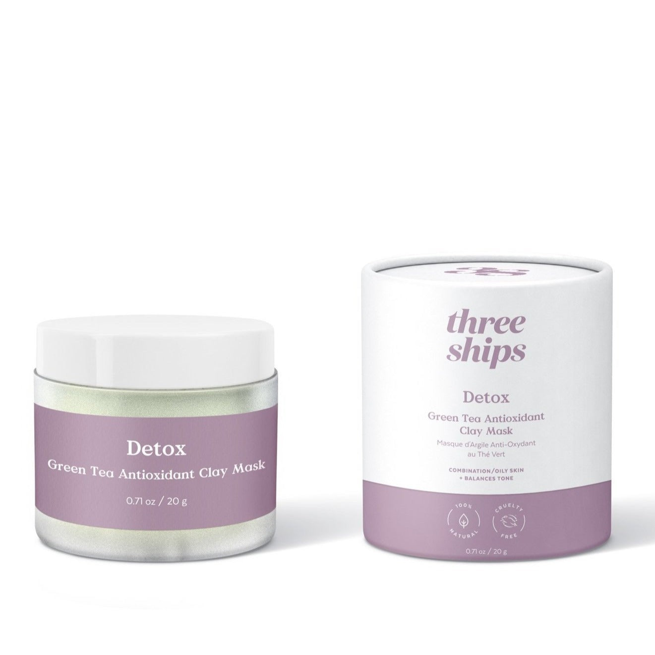 THREE SHIPS - DETOX GREEN TEA ANTIOXIDANT CLAY MASK
