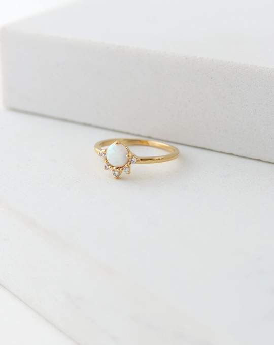 LOVER'S TEMPO - JUNO RING SIZE 7 IN GOLD