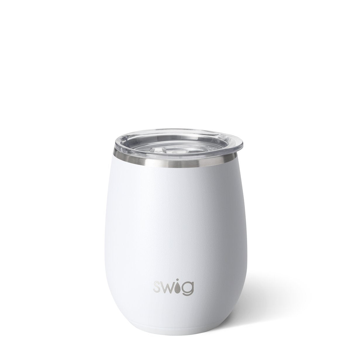 SWIG - 14 OZ STEMLESS WINE CUP IN MATTE WHITE