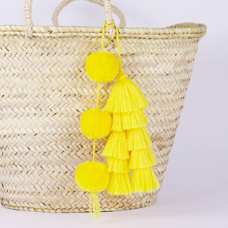 SOCCO DESIGNS - POM-TASSEL IN YELLOW