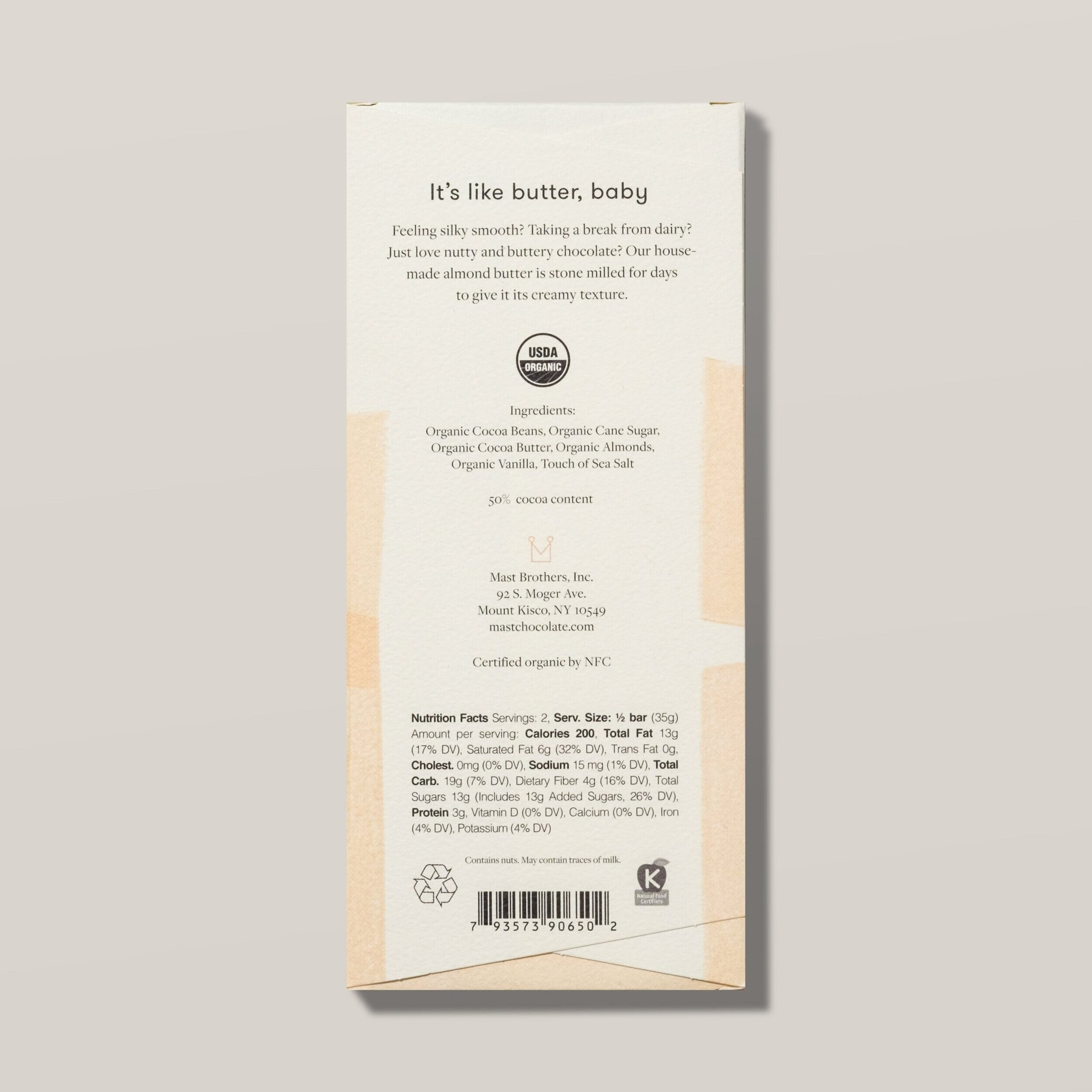 MAST - ALMOND BUTTER CHOCOLATE - CLASSIC (70G/2.5OZ)