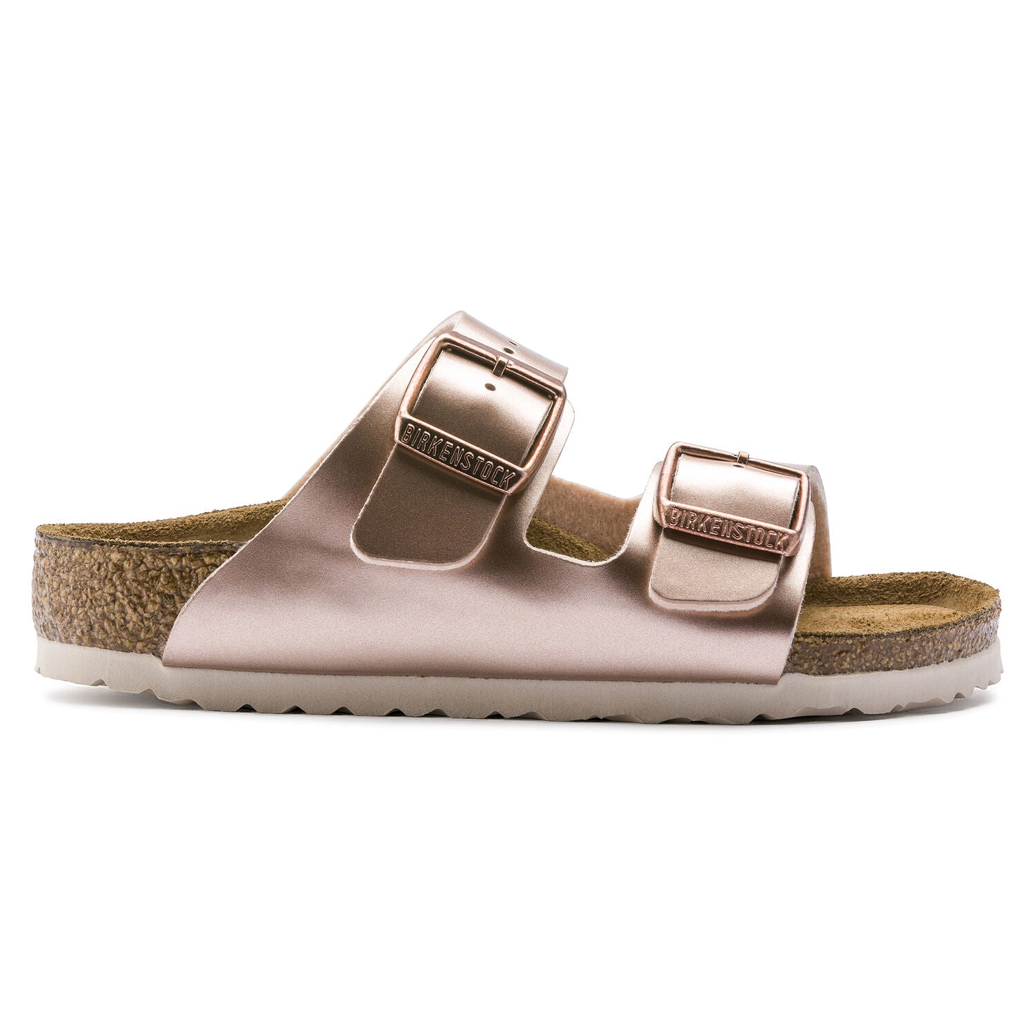 BIRKENSTOCK - KIDS ARIZONA IN METALLIC COPPER LEATHER