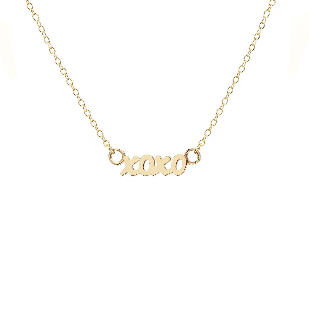 KRIS NATIONS - XOXO CHARM NECKLACE IN 18K GOLD