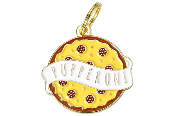 TWO TAILS PET COMPANY - PUPPERONI COLLAR CHARM