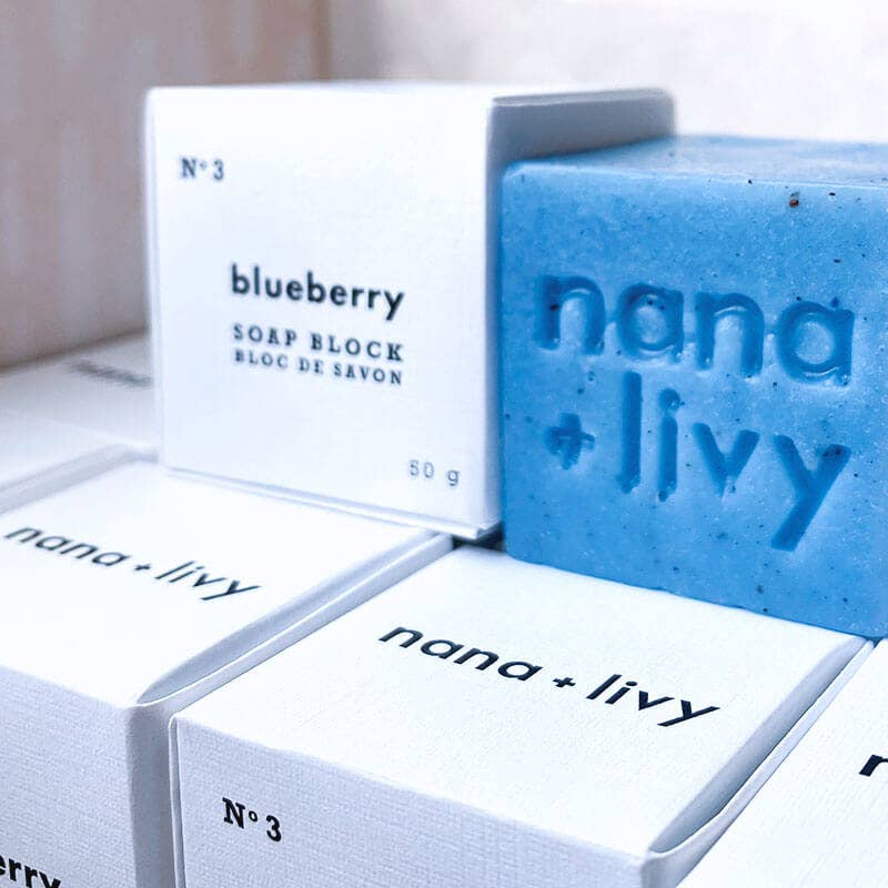 NANA + LIVY - NO 3 BLUEBERRY SOAP BLOCK
