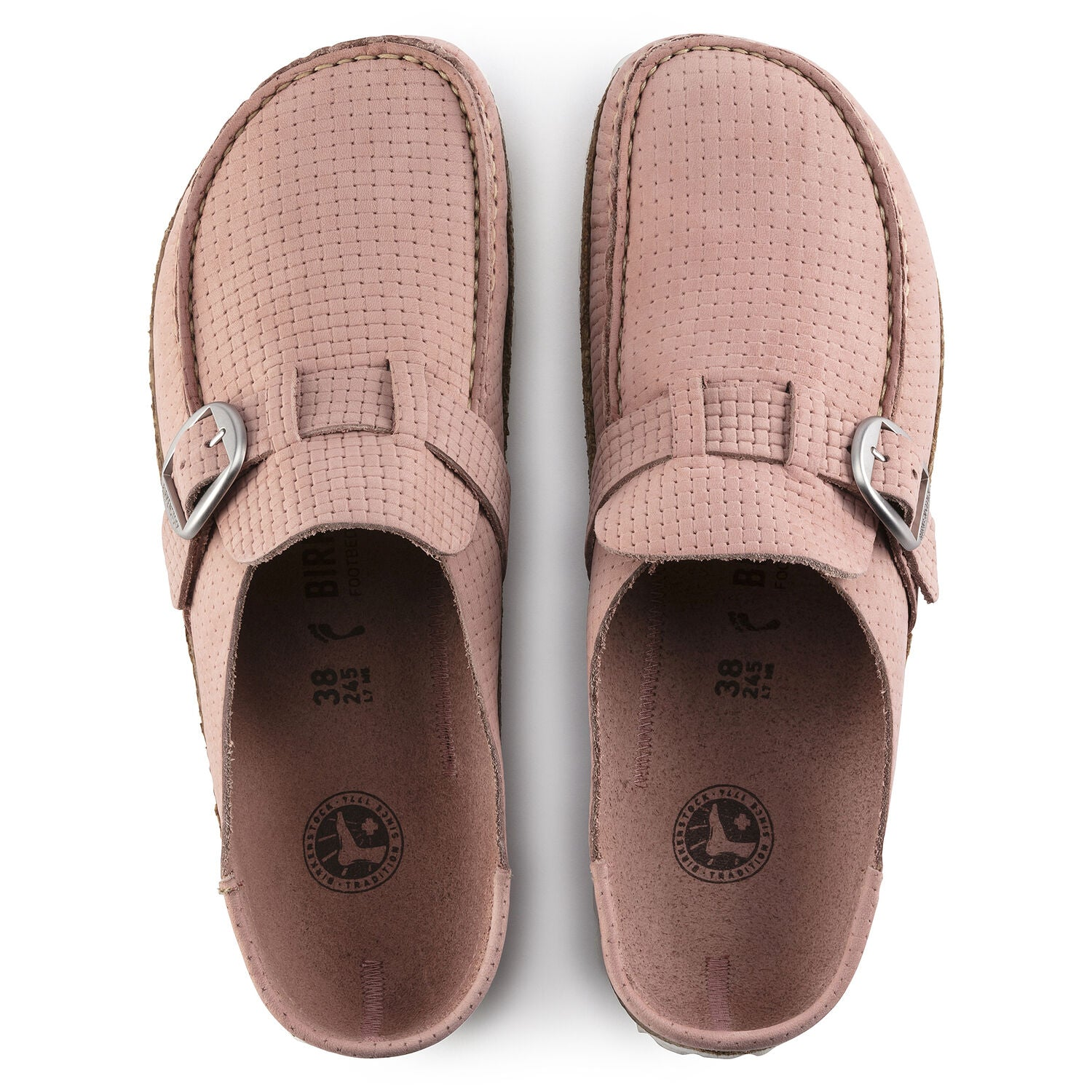 BIRKENSTOCK - BUCKLEY EMBOSSED NUBUK IN SOFT PINK