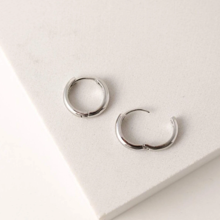 LOVER'S TEMPO - BEA 15MM HOOP EARRINGS IN SILVER