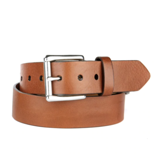 BRAVE LEATHER - CLASSIC LEATHER BELT IN BRANDY