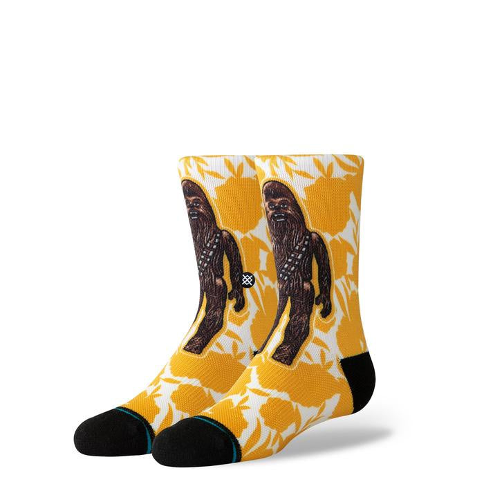 STANCE - K STAR WARS FLORAL CHEWIE IN YELLOW
