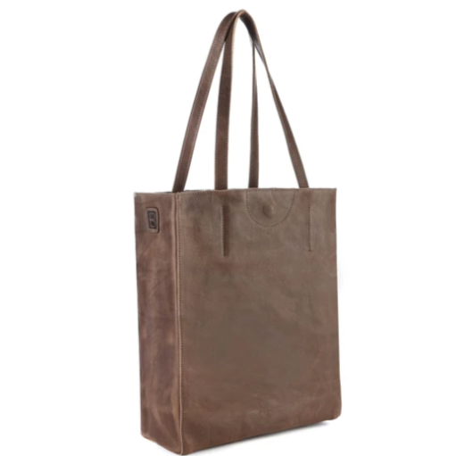 BRAVE LEATHER - GIOVANA ECO LEATHER TOTE IN T-MORO