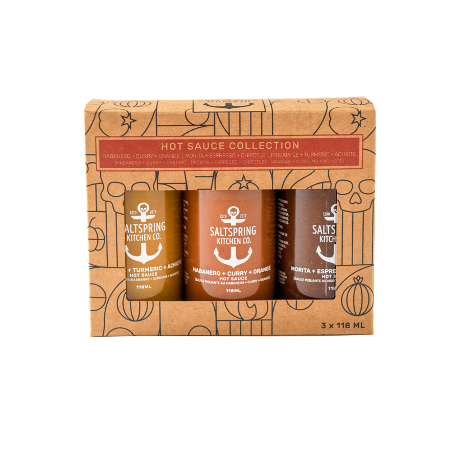 SALT SPRING KITCHEN - HOT SAUCE TRIO COLLECTION GIFT BOX
