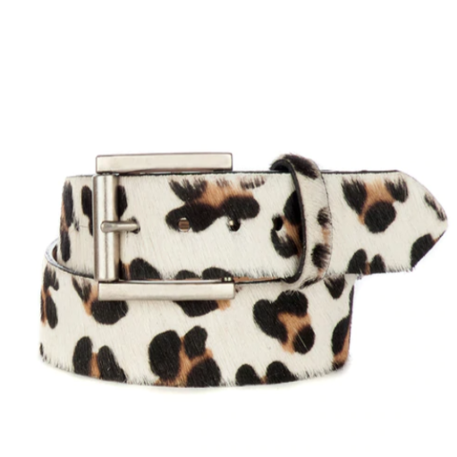 BRAVE LEATHER - LEYSA P BELT IN WHITE LEOPARD