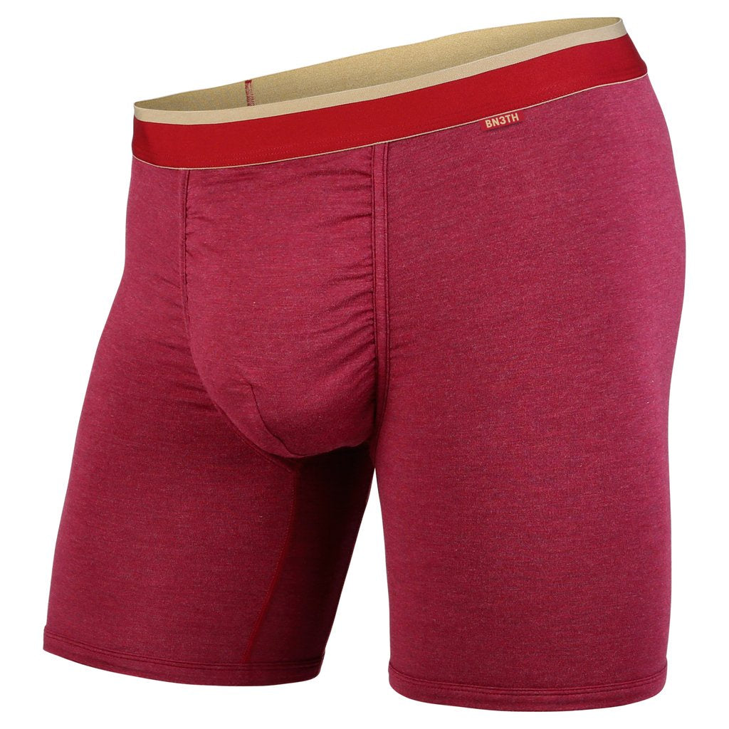 BN3TH - CLASSICS BOXER BRIEF IN CRIMSON HEATHER/CHINO