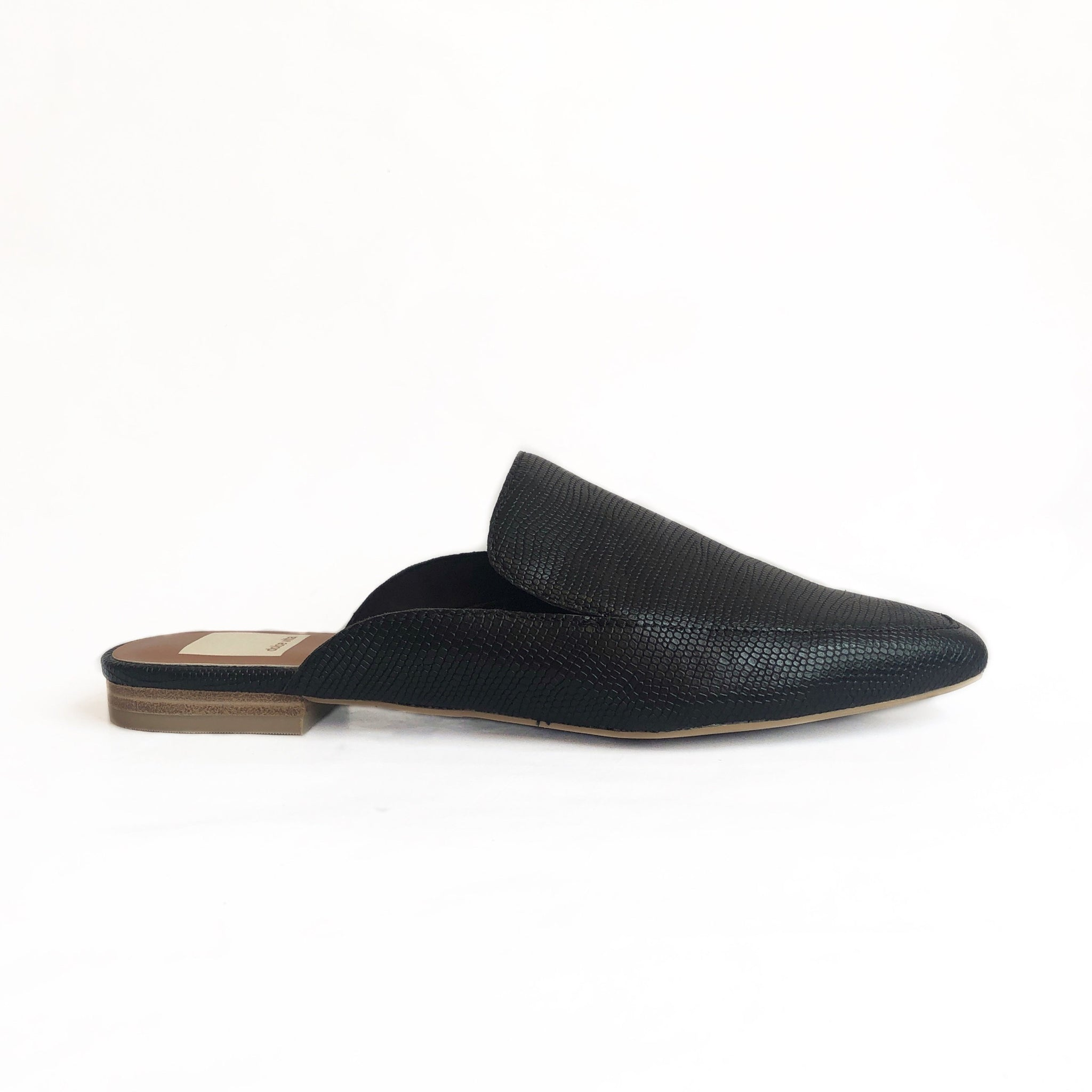 DOLCE VITA - HALEE IN BLACK EMBOSSED LEATHER