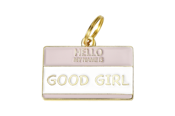 TWO TAILS PET COMPANY - GOOD GIRL COLLAR CHARM IN BRASS